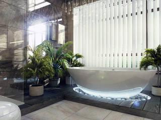Дом в п. Архангельский Ванная комната в стиле модерн от Kakoyan Design Модерн