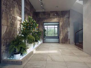 Дом в п. Архангельский Коридор, прихожая и лестница в модерн стиле от Kakoyan Design Модерн