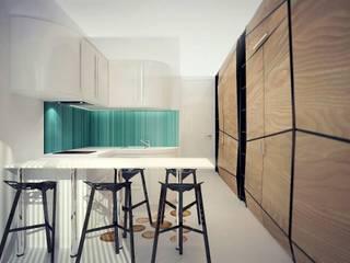 Малогабаритная квартира (Студия) Гостиная в стиле минимализм от Kakoyan Design Минимализм