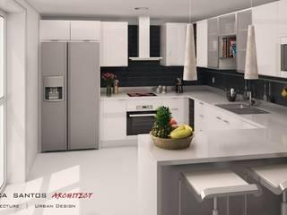 Mendonça Santos Arquitetos & Associados Cocinas modernas