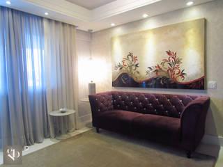 Projetos Apartamento 120m2 Salas de estar modernas por Gustavo Bodini | Designer de Interiores Moderno