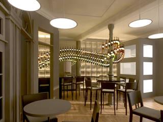 Projecto Bar/ Restaurante Espaços de restauração modernos por Lendas e Detalhes, Lda Moderno