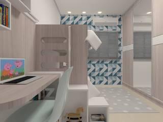 インダストリアルデザインの 子供部屋 の Karoline Gesser Leal Interiores インダストリアル