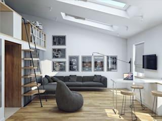 Хороший план Scandinavian style living room