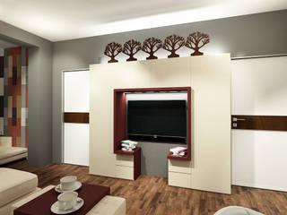 Квартира в Красногорске Гостиная в стиле лофт от Алёна Демшинова Лофт