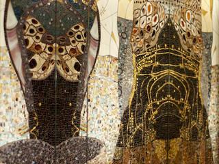 Mozaika szklana w łazience. Klasyczna łazienka od Pracownia Mozaiki M Klasyczny