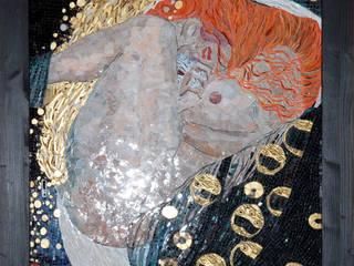 """Obraz z mozaiki, Gustaw Klimt """"Danae"""": styl , w kategorii  zaprojektowany przez Pracownia Mozaiki M"""