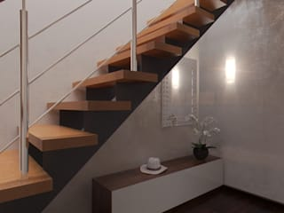ISDesign group s.r.o. Classic style corridor, hallway and stairs Beige