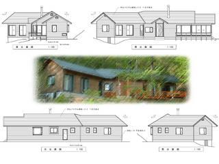 八ヶ岳を望む週末住宅: (有)岳建築設計が手掛けた家です。,和風