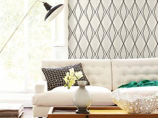 Diseño & Papel Tapiz Paper Muse: Paredes de estilo  por Diseño Interior  & Papel Tapiz
