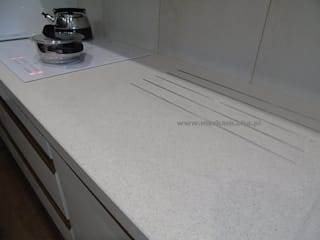 Merkam - Łódź ul. Św. Jerzego 9 KitchenBench tops Quartz Beige