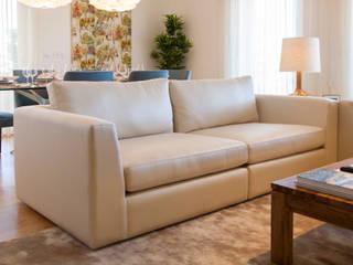 Andar Modelo - Oeiras Salas de estar modernas por Traço Magenta - Design de Interiores Moderno