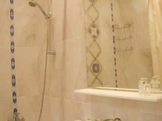 Студия дизайна Виктории Силаевой Salle de bain scandinave Beige