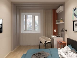 Студия дизайна Виктории Силаевой Chambre minimaliste Beige