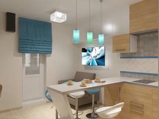 Студия 35 кв.м.: Кухни в . Автор – Студия дизайна Виктории Силаевой, Минимализм