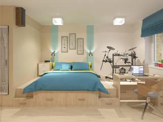 Студия 35 кв.м.: Гостиная в . Автор – Студия дизайна Виктории Силаевой, Минимализм