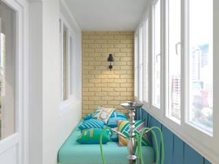 Minimalist balcony, veranda & terrace by Студия дизайна Виктории Силаевой Minimalist