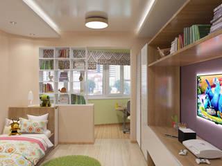 Студия дизайна Виктории Силаевой Chambre d'enfant minimaliste Beige