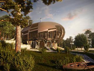 UFO House: Дома в . Автор – Архитектурное и дизайнерское бюро WithArch, Минимализм