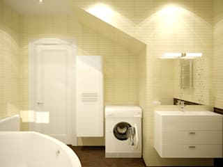 Casas de banho asiáticas por Студия интерьерного дизайна happy.design Asiático
