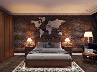 Проект 041: спальня: Спальни в . Автор – студия визуализации и дизайна интерьера '3dm2', Минимализм