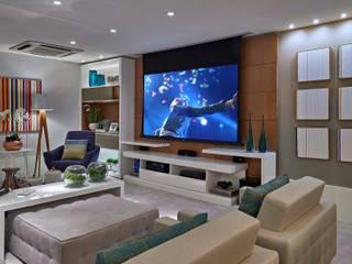 Decora Lider Vitória - Sala de estar, Home Theater e Jantar Salas multimídia modernas por Lider Interiores Moderno