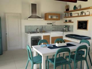 Interior Design Project: Renovation of a Country House | Progetto di interni: Riqualificazione Casa di Campagna Cucina rurale di Fabio Sillato Architect & Graphic Designer Rurale