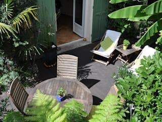 Terrasse exotique en ville Jardin tropical par Taffin Tropical