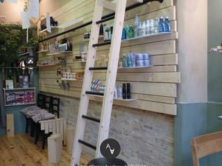 Relooking d'un salon de coiffure à Toulouse (31) Audrey Ardalan Locaux commerciaux & Magasin originaux