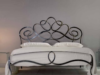 'Ara' Hand made wrought iron bed by Cosatto homify BedroomBeds & headboards Besi/Baja Multicolored