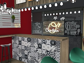 O' CANTEEN INTERIOR DESIGN PROJECT - LONDON | Progetto di Interior Design per locale O' Canteen, Londra: Bar & Club in stile  di Fabio Sillato Architect & Graphic Designer