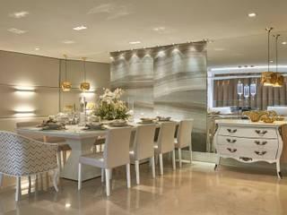 Decora Lider Vitória - Sala de Estar e Jantar Para o Casal Sofisticado Salas de jantar modernas por Lider Interiores Moderno