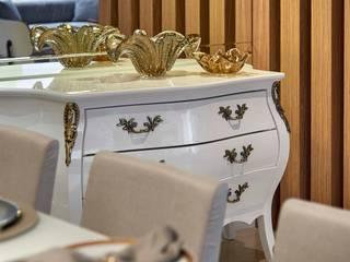 Decora Lider Vitória - Sala de Estar e Jantar Para o Casal Sofisticado Salas de estar modernas por Lider Interiores Moderno