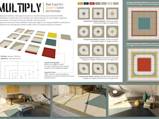 Design Competition: ceramic tiles Mirage, new collection 2014 | Concorso Nuova Collezione 2014, Lastre in Ceramica Mirage:  in stile  di Fabio Sillato Architect & Graphic Designer