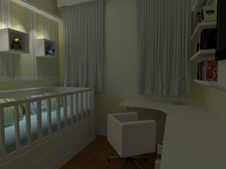 Modern nursery/kids room by Elaine Medeiros Borges design de interiores Modern