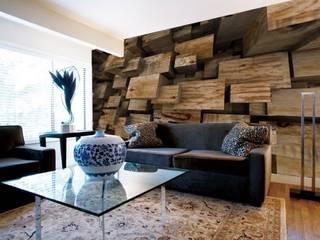 wood designs Arihant design 現代風玄關、走廊與階梯