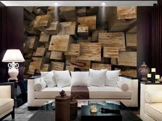 Arihant design Koridor & Tangga Modern Kayu Buatan Amber/Gold