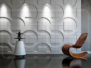 3D decorative panels on the wall—model ROUND & SQUARE Loft Design System Walls & flooringWall tattoos