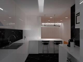 REMODELAÇÃO APARTAMENTO Cozinhas minimalistas por RHARQUITECTOS Minimalista