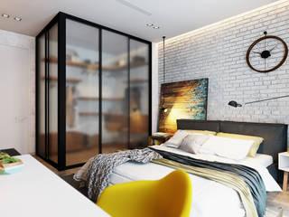 Habitaciones de estilo industrial de Solo Design Studio Industrial Vidrio