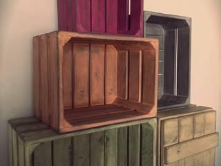 Cajas de Madera. Decoracion Vintage.:  de estilo  de DESVAN VINTAGE