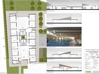 SEZIONI E INTERNI: Sala multimediale in stile  di STUDIO TECNICO ARCH. VITTORIO VALPONDI