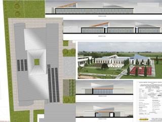 ESTERNI: Case in stile in stile Minimalista di STUDIO TECNICO ARCH. VITTORIO VALPONDI