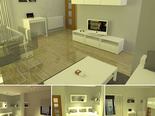 BS Ingeniería Modern style study/office Wood-Plastic Composite White