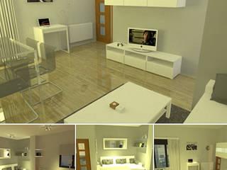 Diseño y ejecución de negocios previa infografía 3D Estudios y despachos de estilo moderno de BS Ingeniería Moderno