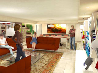 Basement conversion Planet G Classic style living room