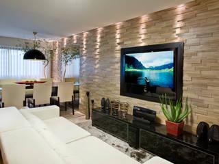 Duplex Costa Salas de estar modernas por Renata Dutra Arquitetura Moderno