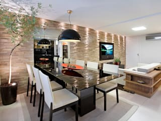 Duplex Costa: Salas de jantar  por Renata Dutra Arquitetura,
