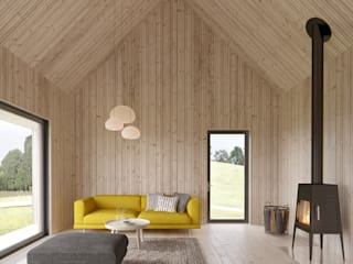 scandinavian Living room by INT2architecture