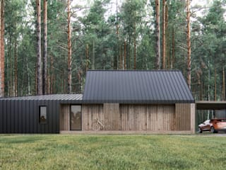 INT2architecture บ้านสำเร็จรูป ไม้ Brown